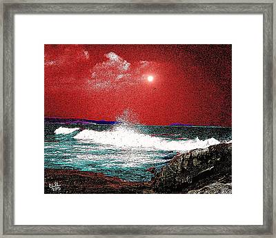 Whaleback At Peaks Island Maine Framed Print