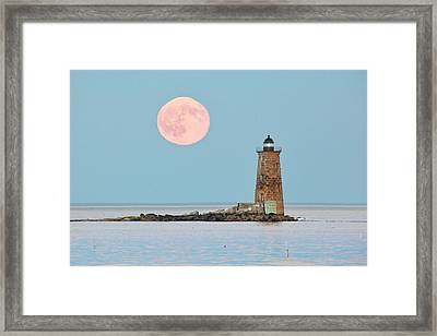 Whaleback Blue Moon Framed Print by Eric Gendron