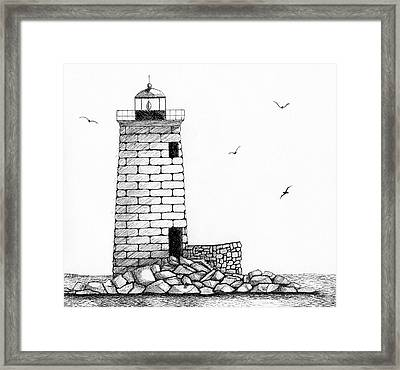 Whaleback Ledge Lighthouse Framed Print by Tim Murray