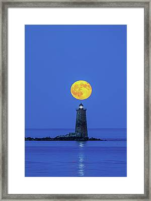 Framed Print featuring the photograph Whaleback Light by Juergen Roth