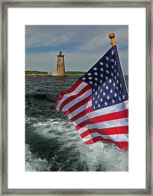 Whaleback Light Framed Print