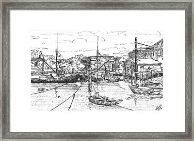 Whaler On Eel Pond Framed Print by Vic Delnore