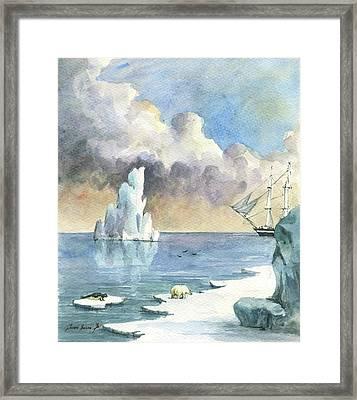 Whaler On Ice Framed Print