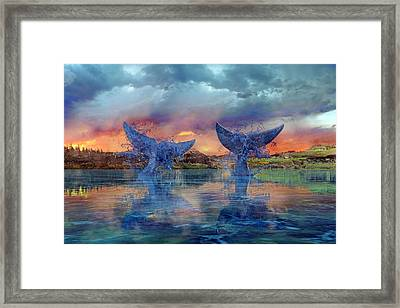 Whales II Framed Print by Betsy Knapp