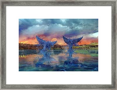 Whales II Framed Print
