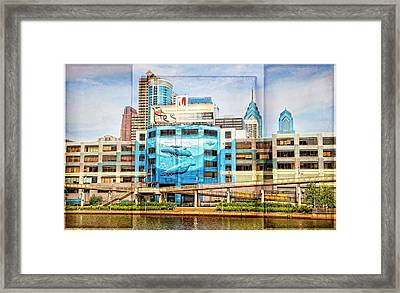Whales In The City Framed Print