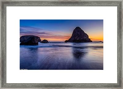 Whaleshead Beach Sunset Framed Print