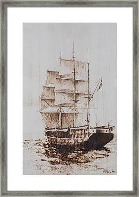 Whaleship Framed Print by Dominic Abela