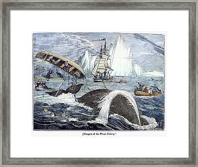 Whaling, 1833 Framed Print