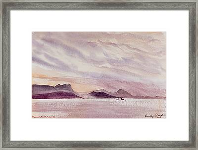 Whangarei Heads At Sunrise, New Zealand Framed Print