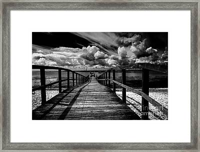 Wharf At Southend On Sea Framed Print by Avalon Fine Art Photography