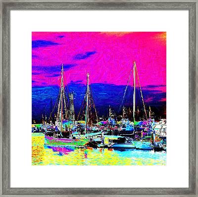 Wharf Framed Print by Howard Lancaster