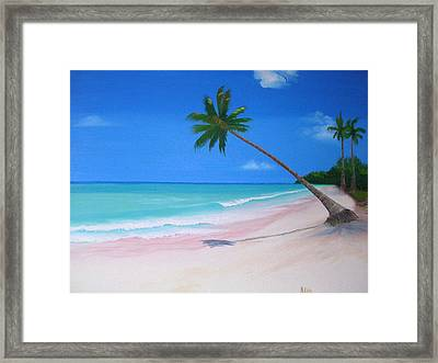 What A Beach Day Framed Print