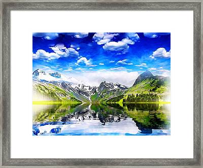 Framed Print featuring the mixed media What A Beautiful Day by Gabriella Weninger - David