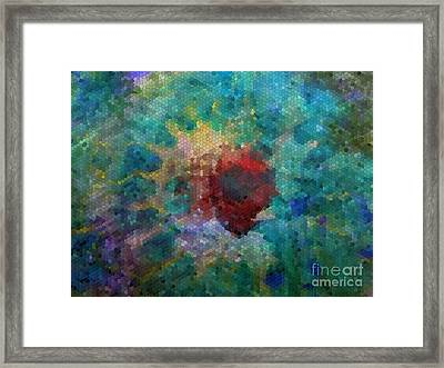 Framed Print featuring the digital art What A Bee Sees by Claire Bull