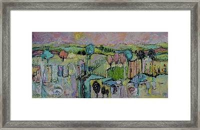 What A Bird Sees Framed Print by Sharon Furner