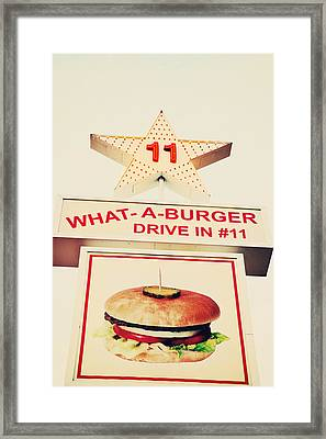 What A Burger Framed Print by Kim Fearheiley
