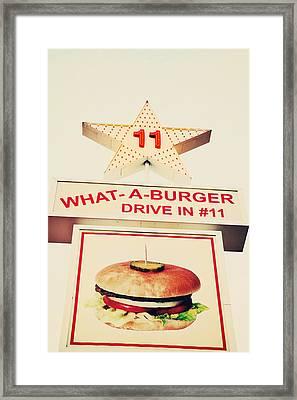 What A Burger Framed Print by Kim Fearheiley