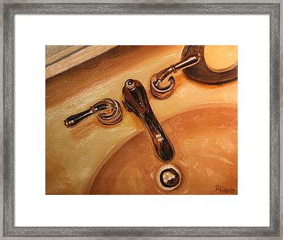 Framed Print featuring the painting What A Drip by Rachel Hames