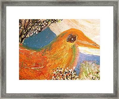 What A Friendly  Chap Framed Print by Anne-Elizabeth Whiteway