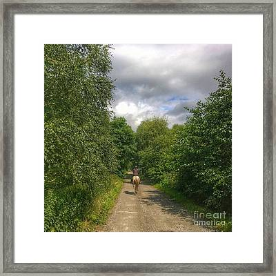 What A Great Ride Out.  This Is Natalie Framed Print