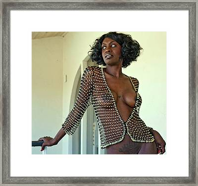 What A Mesh Framed Print