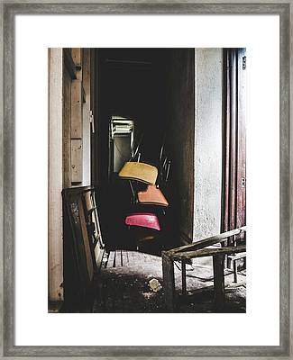 What A Mess. Hallway In Abandoned Building. Framed Print by Dylan Murphy