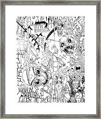 What A Mess Framed Print by Jack Norton