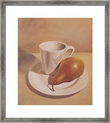 What A Pear Framed Print by Eva Folks