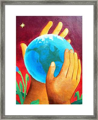 What A Wonderful World ... Framed Print by Juergen Weiss