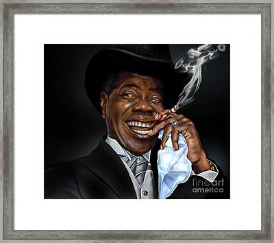 What A Wonderful World - Mister Louis Armstrong Framed Print