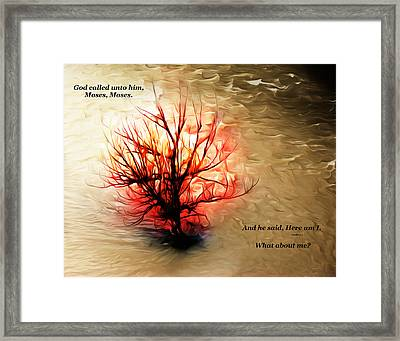 What About Me? Framed Print by Carol Deltoro