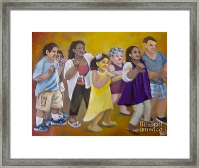 Framed Print featuring the painting What America Should Look Like by Saundra Johnson