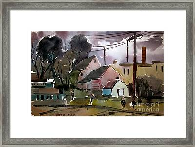 What Are You Doing Framed Print by Charlie Spear