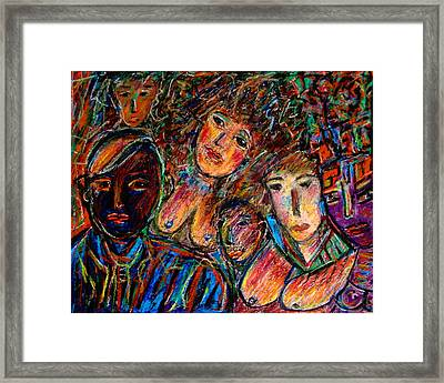 What Are You Looking At-17 Framed Print by Natalie Holland