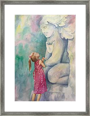 What Are You Thinking? Framed Print