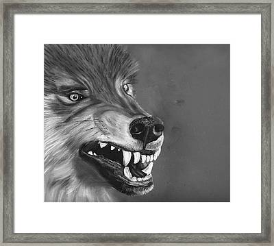 What Big Teeth You Have Framed Print by Jessica Kale