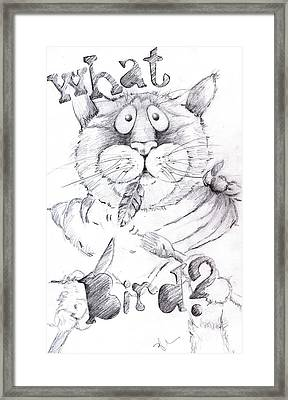 What Bird  Framed Print by Mary-Lee Sanders