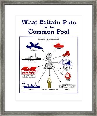 What Britain Puts In The Common Pool Framed Print