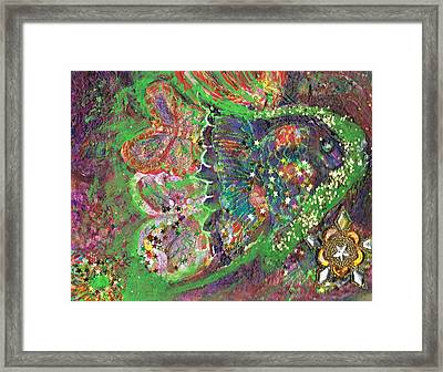 What Cha Doin Friday Night Mr. Turtle Framed Print by Anne-Elizabeth Whiteway