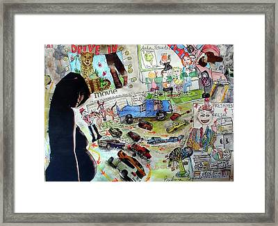 What Did You Do At The Drive In? Framed Print by Barb Greene mann