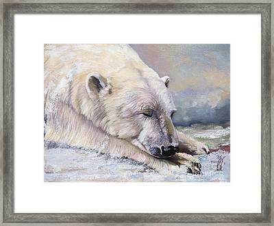 What Do Polar Bears Dream Of Framed Print by J W Baker