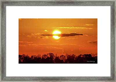 What Do You See 2 Lick Skillet Sunset Art Framed Print by Reid Callaway