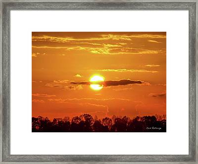 What Do You See Lick Skillet Sunset Art Framed Print by Reid Callaway