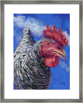 Framed Print featuring the pastel What Do You Want by Billie Colson