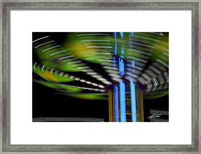 What Goes Around Framed Print by Barbara  White