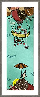 What Goes Up.... Framed Print