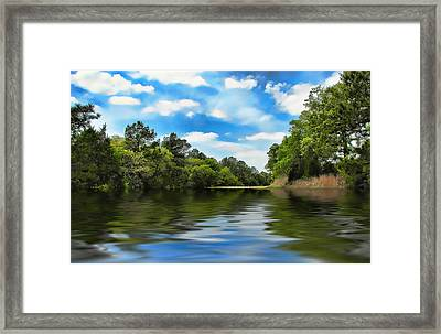 What I Remember About That Day On The River Framed Print by Wendy J St Christopher