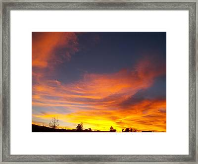 What I Saw - California Sunset Framed Print