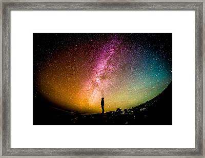 What I Saw Framed Print